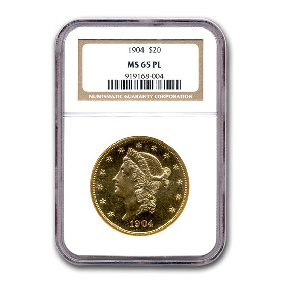 1904 $20 Liberty Gold Double Eagle MS-65 NGC (PL)