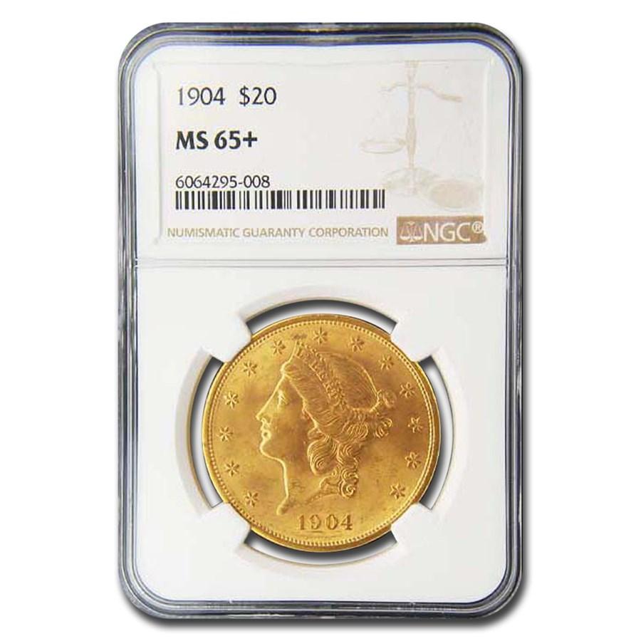 1904 $20 Liberty Gold Double Eagle MS-65+ NGC