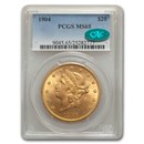 1904 $20 Liberty Gold Double Eagle MS-65 PCGS (CAC)