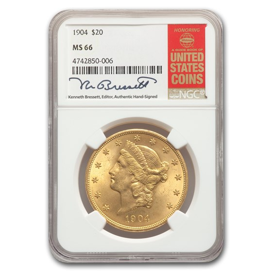 1904 $20 Liberty Gold Double Eagle MS-66 NGC