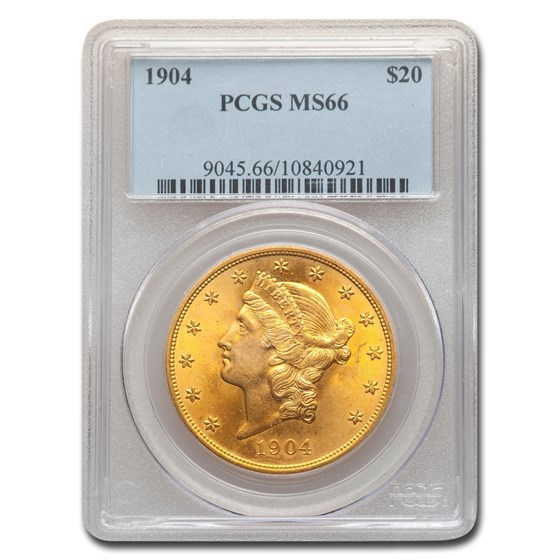 1904 $20 Liberty Gold Double Eagle MS-66 PCGS