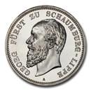 1904-A German Schaumburg-Lippe Albrecht 5 Mark PR-64 Cameo PCGS