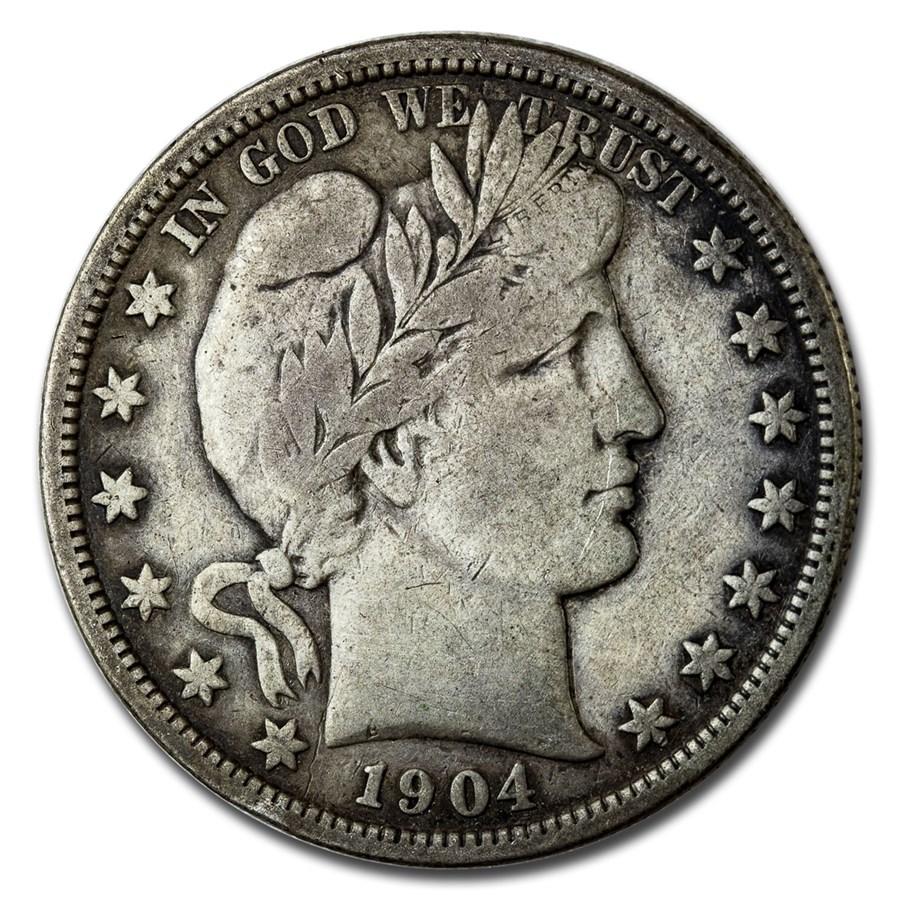 1904 Barber Half Dollar VF (Details)