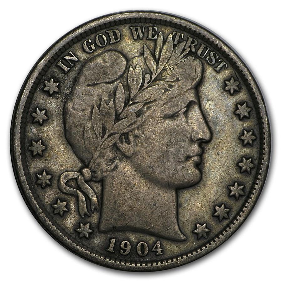 1904 Barber Half Dollar VF