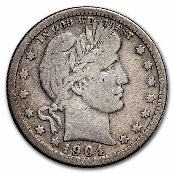 1904 Barber Quarter Fine