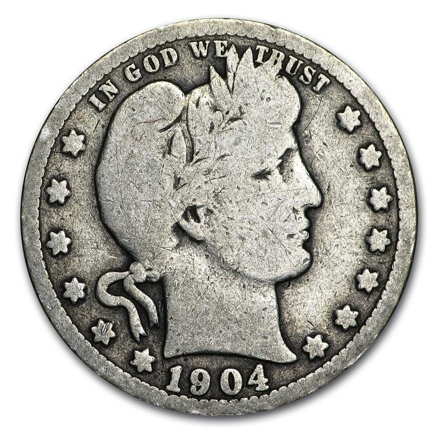 1904 Barber Quarter Good/VG