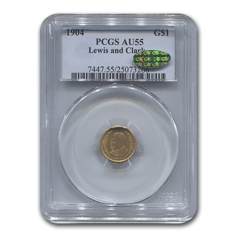 1904 Gold $1.00 Lewis & Clark AU-55 PCGS CAC
