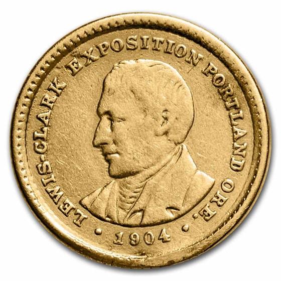 1904 Gold $1.00 Lewis & Clark AU Details