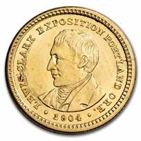 1904 Gold $1.00 Lewis & Clark BU