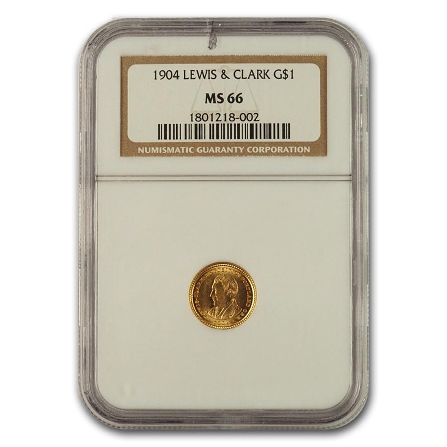 1904 Gold $1.00 Lewis & Clark Commem MS-66 NGC