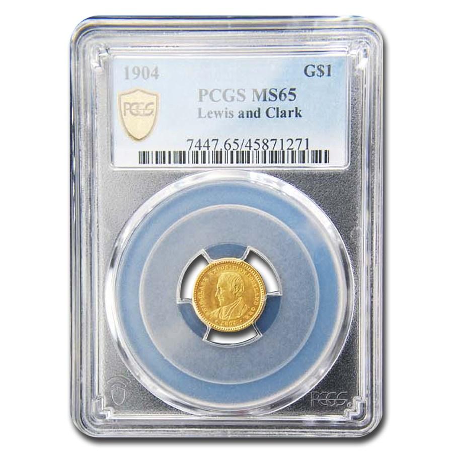 1904 Gold $1.00 Lewis & Clark MS-65 PCGS