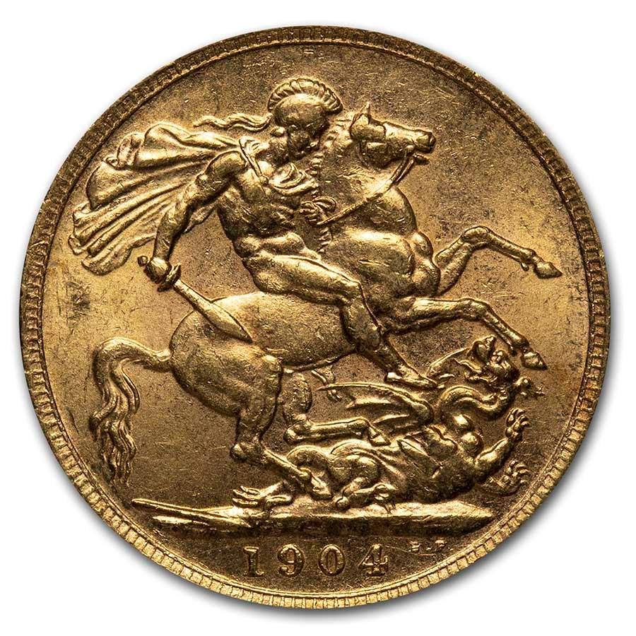 1904 Great Britain Gold Sovereign Edward VII BU