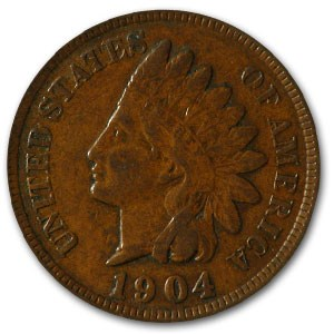 1904 Indian Head Cent VF