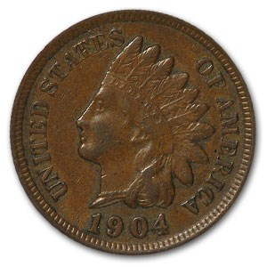 1904 Indian Head Cent XF