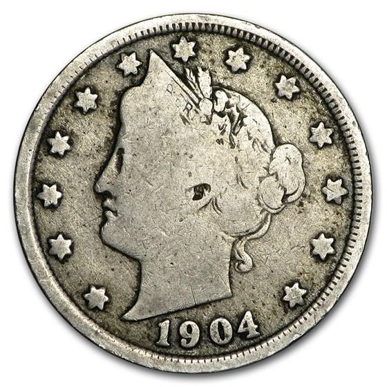 1904 Liberty Head V Nickel Good+