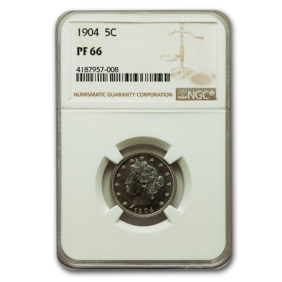 1904 Liberty Head V Nickel PF-66 NGC
