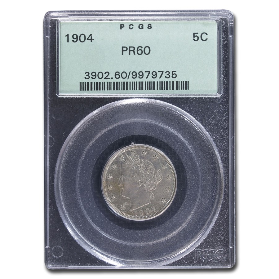 1904 Liberty Head V Nickel PR-60 PCGS