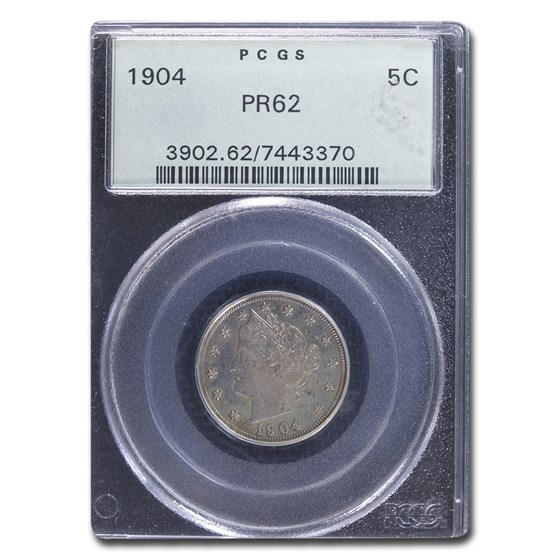 1904 Liberty Head V Nickel PR-62 PCGS
