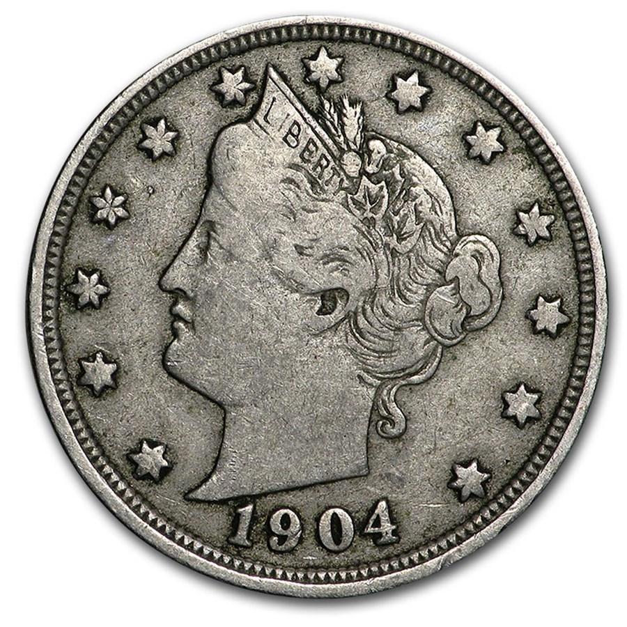 1904 Liberty Head V Nickel VF