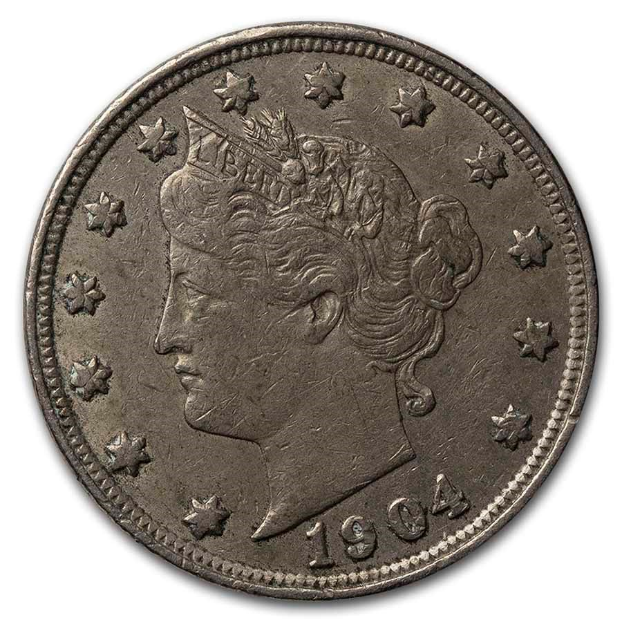 1904 Liberty Head V Nickel XF