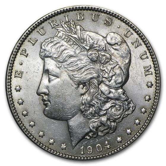 1904 Morgan Dollar AU-58