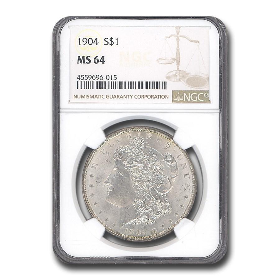 1904 Morgan Dollar MS-64 NGC