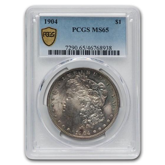 1904 Morgan Dollar MS-65 PCGS (Toned)