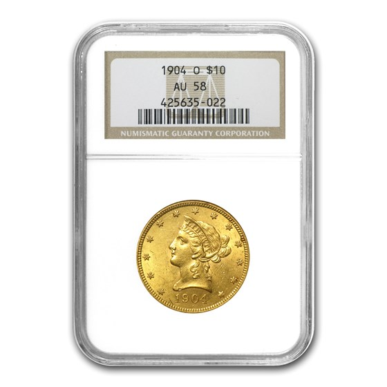 1904-O $10 Liberty Gold Eagle AU-58 NGC