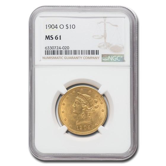 1904-O $10 Liberty Gold Eagle MS-61 NGC