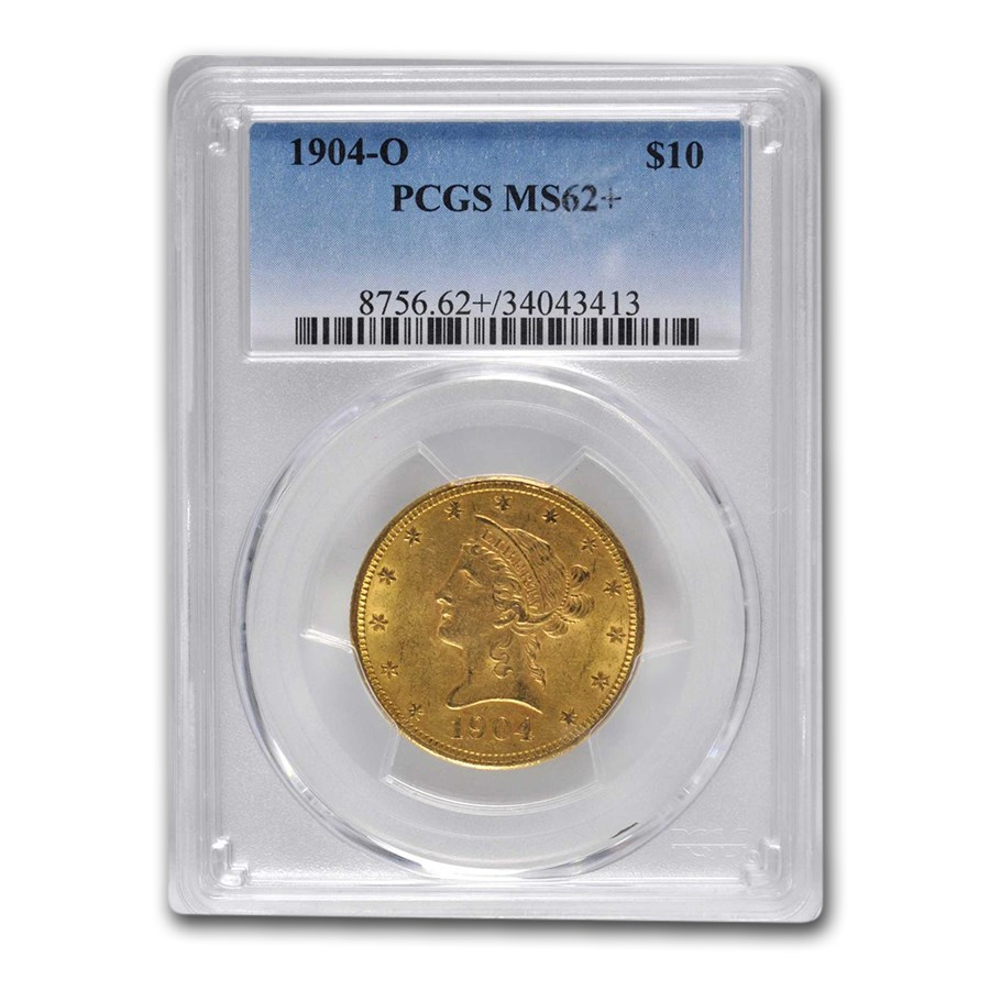 1904-O $10 Liberty Gold Eagle MS-62+ PCGS