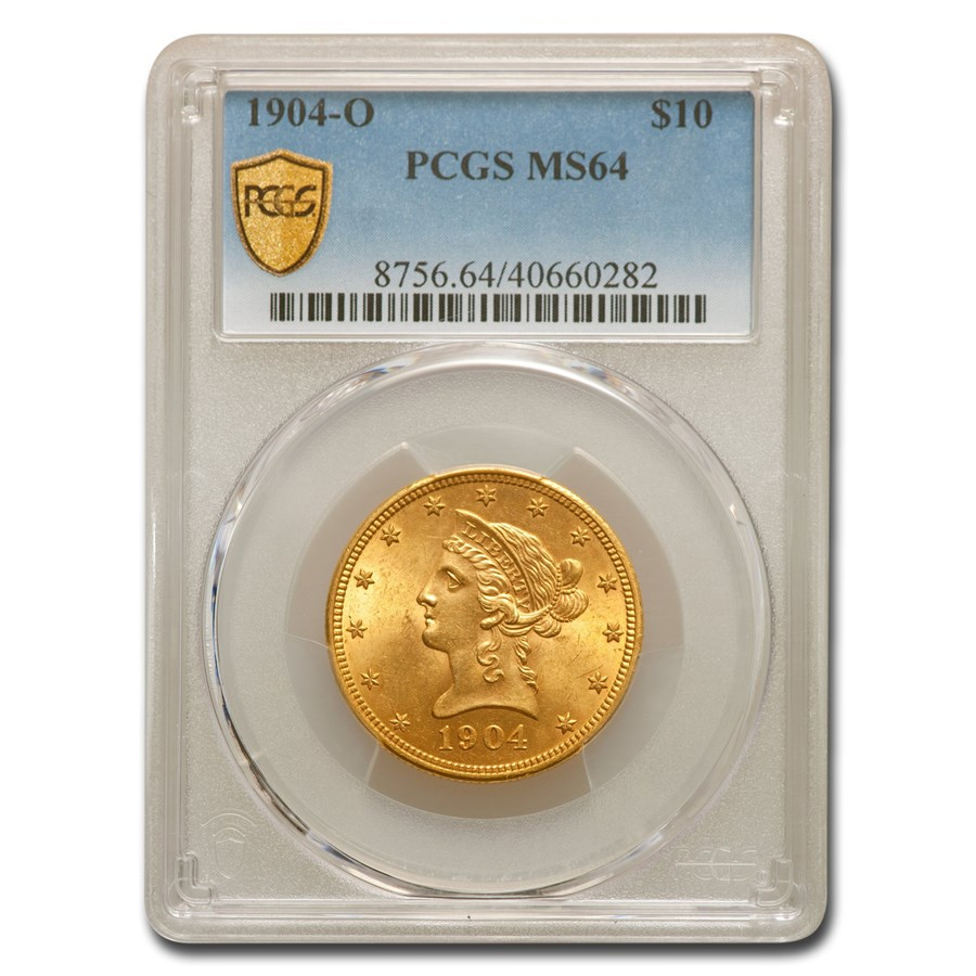 1904-O $10 Liberty Gold Eagle MS-64 PCGS