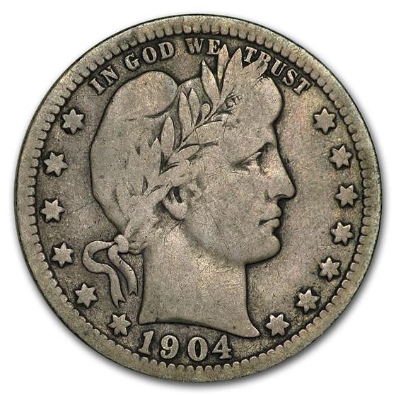 1904-O Barber Quarter Fine