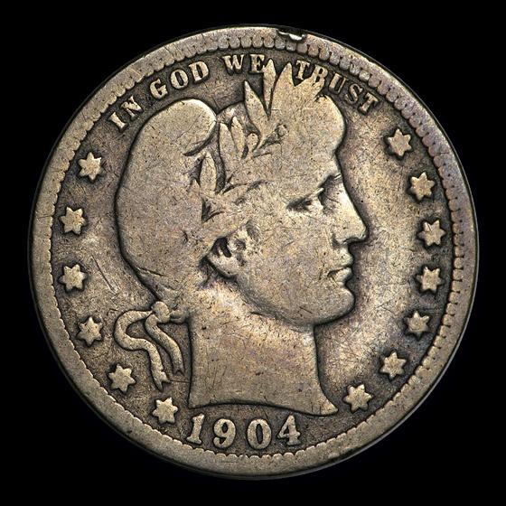 1904-O Barber Quarter VG