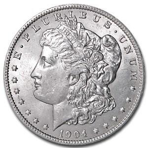 1904-O Morgan Dollar AU