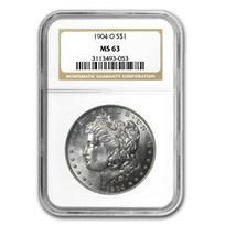 1904-O Morgan Dollar MS-63 NGC