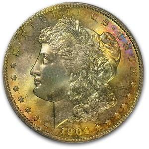 1904-O Morgan Dollar MS-63 PCGS (Full Toning)