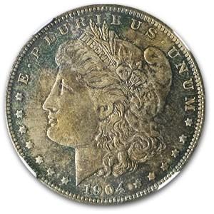 1904-O Morgan Dollar MS-64 NGC (Nice Obv & Rev Toning)
