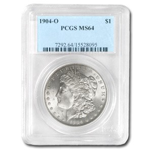 1904-O Morgan Dollar MS-64 PCGS Attractively (Toned) Rev