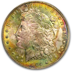 1904-O Morgan Dollar MS-64 PCGS (Vibrant Earthy Toning)