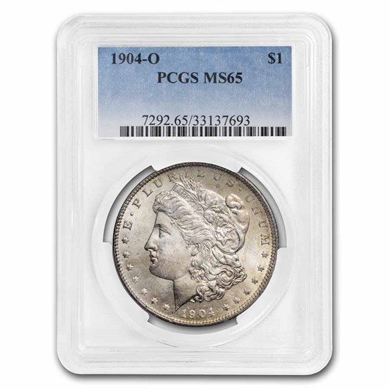 1904-O Morgan Dollar MS-65 PCGS (Toning Obv & Rev)