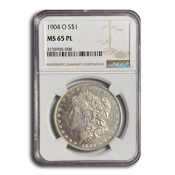 1904-O Morgan Dollar MS-65 PL NGC