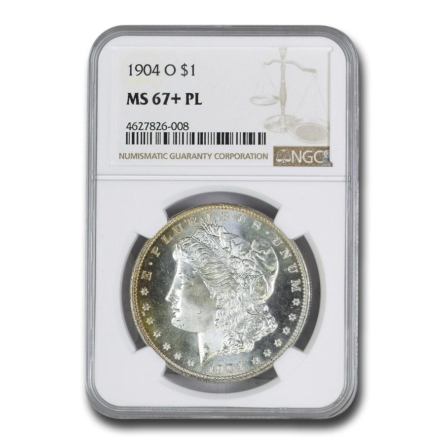 1904-O Morgan Dollar MS-67+ NGC (PL)