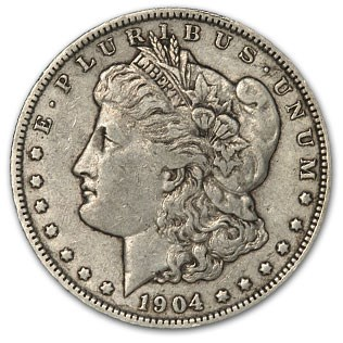 1904-O Morgan Dollar XF