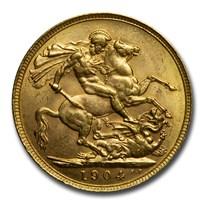 1904-P Australia Gold Sovereign Edward VII BU