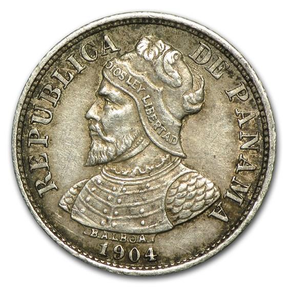 1904 Panama Silver 5 Centesimo XF