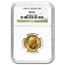 1904 Russia Gold 10 Roubles Nicholas II MS-64 NGC