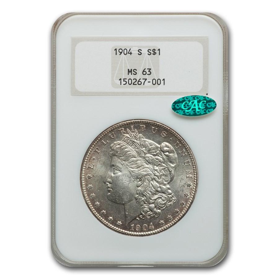 1904-S Morgan Dollar MS-63 NGC CAC