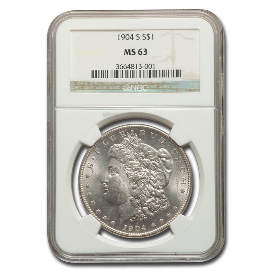 1904-S Morgan Dollar MS-63 NGC