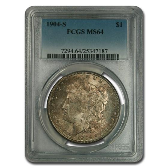 1904-S Morgan Dollar MS-64 PCGS