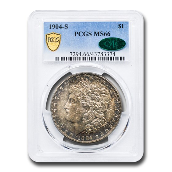 1904-S Morgan Dollar MS-66 PCGS CAC